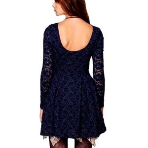 Free People Rose Garden Moody Floral Lace Dress